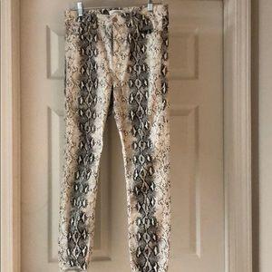 Zara Snakeskin Jeans